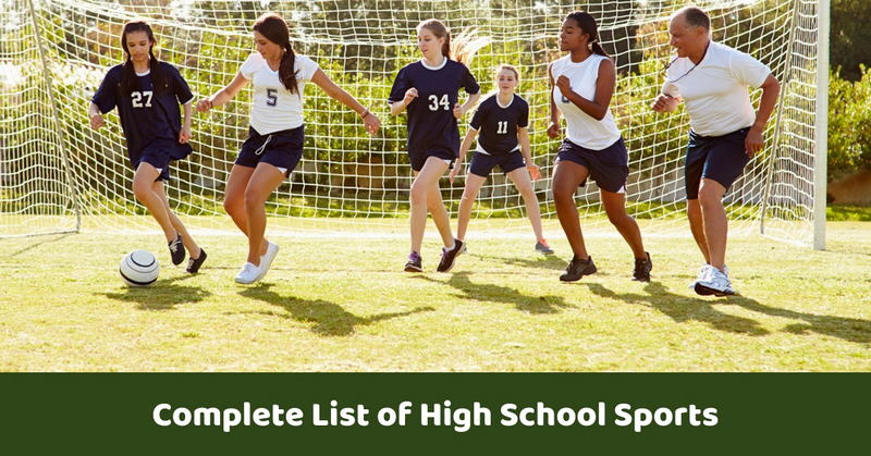 Complete List of High School Sports